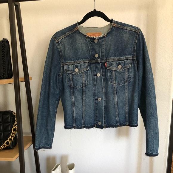 Levi's raw edge trucker jacket